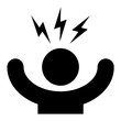 Leinwandbild Motiv Stress symbol icon