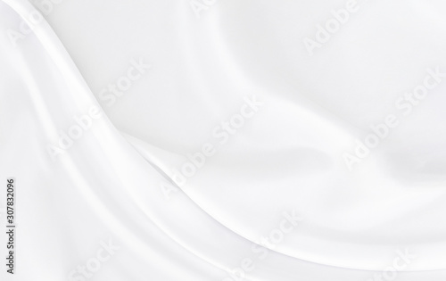 Fényképezés White gray satin texture that is white silver fabric silk background with beautiful soft blur pattern natural