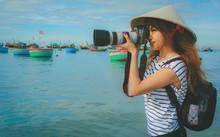 Photographer Asian Woman Takin...