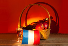 A Bottle Of French Calvados Li...