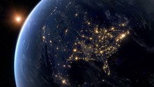 Blackout In North America. Huge Outage Hits North America And Surrounding Area. Power Outage Across All Continent.