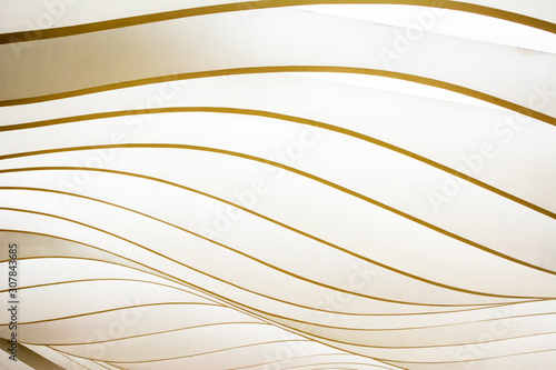 Fototapeta abstract background with wavy lines pattern texture of lights obraz na płótnie