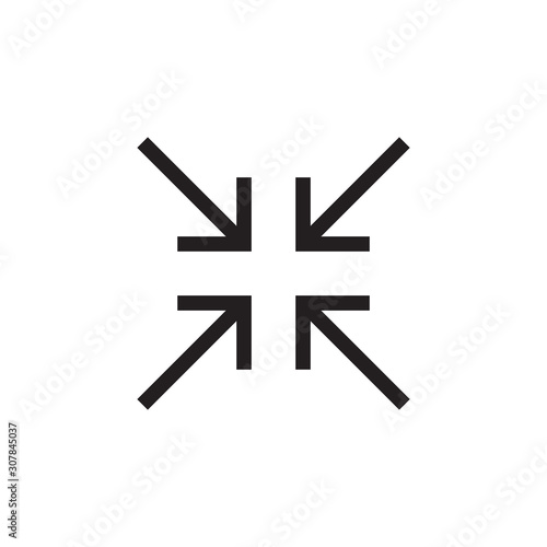 Arrow shrink icon vector isolated on background Tablou Canvas