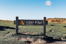 Cliff Edge Sign Concept Of Bei...