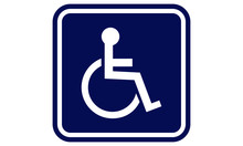 Handicap Sign. Handicap Disabled Sign