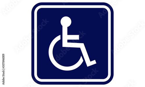 Obraz Handicap sign. Handicap disabled sign - fototapety do salonu