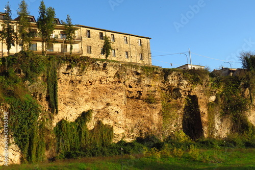 ruins of old castle, Aquino , Italy Wallpaper Mural