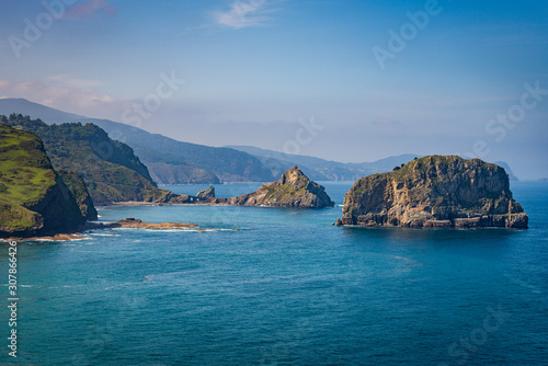 View of hermitage Gaztelugatxe on the coast of Northern Spain, made famous by HB Wallpaper Mural