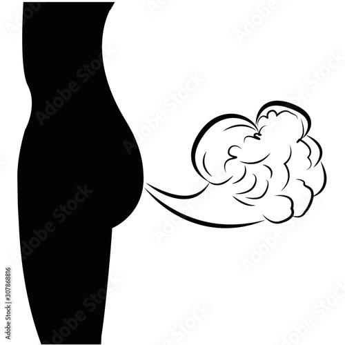 Valokuvatapetti Excess gas from human body