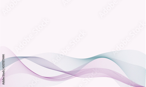 Abstract vector background, Modern colorful transparent waved lines for brochure, website, flyer design. Blue smoke wave. Blue wavy background.  Blue wave. Smoke wave blue. Transparent blue wave. - 307871444