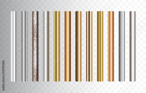 Foto Pipe set isolated on transparent background