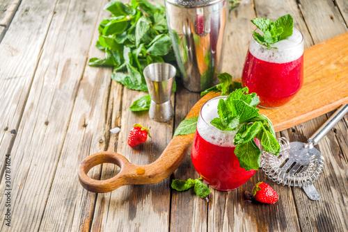 Summer sweet alcohol cocktail Akvavit Canvas Print