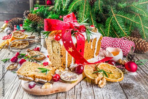 Christmas winter fruit cake Wallpaper Mural