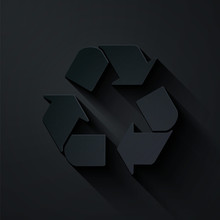 Paper Cut Recycle Symbol Icon ...