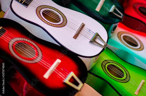 Fotografering Mexican String Guitars