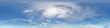 Leinwandbild Motiv blue sky with beautiful cumulus clouds. Seamless hdri panorama 360 degrees angle view with zenith for use in 3d graphics or game development as sky dome or edit drone shot
