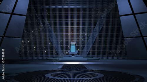 Photo  Sci fi Throne room 3d rendering