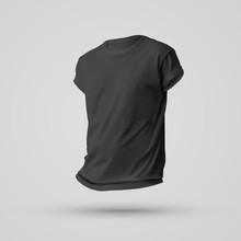 Mockup Design Of Black Blank T...