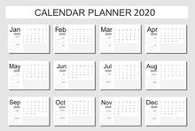 2020 Calendar Planner Design. ...