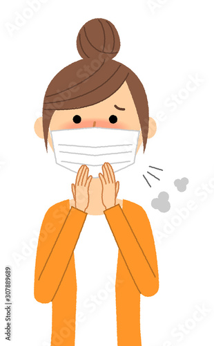 Papel de parede 若い女性 風邪 インフルエンザ