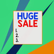 canvas print picture - Conceptual hand writing showing Huge Sale. Concept meaning putting products on high discount Great price Black Friday Square rectangle paper sheet load with full of pattern theme