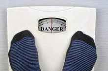 Weight Scale Showing Danger