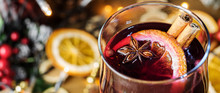 Christmas Mulled Close-up In A...