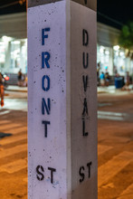 Street Sign In Key West, FL