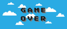 Game Over Text Isolated On Clo...