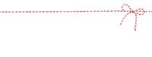 Rot-weiß Gestreifte Kordel Mit Schleife Vor Weißem Hintergrund