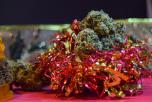 Dried Cannabis Flowers With Ch...