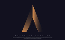 Golden Premium Alphabet Design...