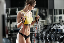 Beautiful Woman Bodybuilder In...