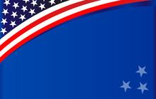 American Flag Symbol Wave Patt...