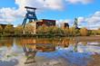 canvas print picture - Historisches Ruhrgebiet, Zeche, Bergwerk Ewald, Deutschland