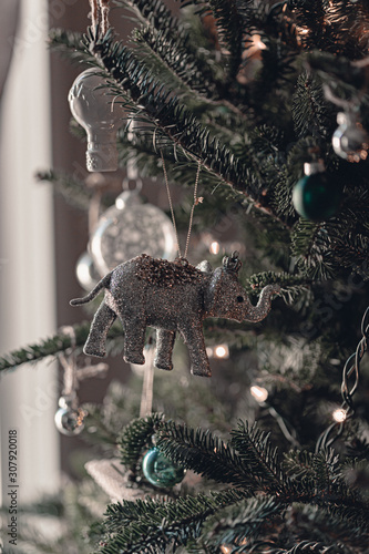 Christmas Tree Decorations White And Silver Ornaments Old Fashioned Christmas Tree Ornaments Festive Winter Time Celebration This Time Of The Year Tis The Season Sparkle Lights Green Natural Buy This Stock