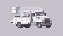 Vector Utility Truck. Isolated...