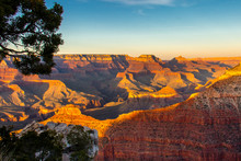 Sunset From Mather Point On The South Rim Of Grand Canyon National Park
