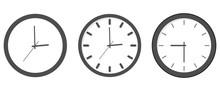 Clock Icon Set - Outline Isola...
