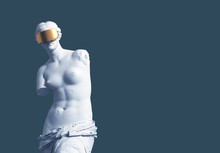 3D Model Aphrodite With Golden...