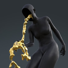Artificial Woman Vomits Strang...