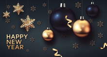 Gold And Black Christmas Balls...