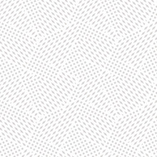 Vector Geometric Seamless Pattern. Abstract Graphic Background With Tiny Shapes, Squares, Rhombuses. Subtle White And Gray Texture. Modern Stylish Linear Background. Minimalist Design For Decor, Web