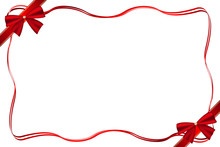 Christmas Frame With Bows And ...