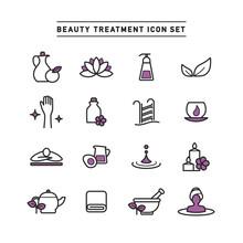 BEAUTY TREATMENT ICON SET