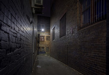 Spooky Alley At Night