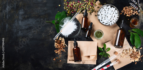 Photo Alternative herb medicine