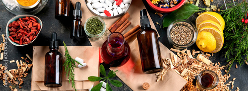 Alternative herb medicine Wallpaper Mural