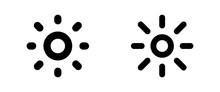 Brightness Icon . Web Icons Or Signs . Web And Mobile Icons.