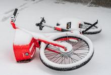 Abandoned Rental Bike Lying On...